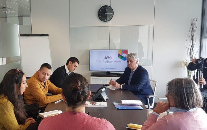 Reunión Fedit-delegación chilena
