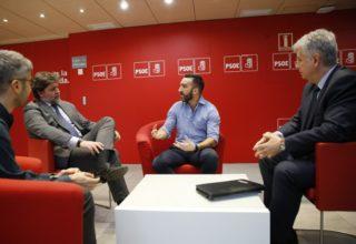 El presidente y el director de Fedit se reúnen con el máximo responsable de Ciencia, Tecnología e Innovación del PSOE