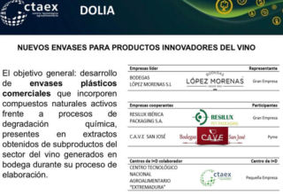 CTAEX participa en un proyecto que desarrolla nuevos envases y productos innovadores procedentes del vino